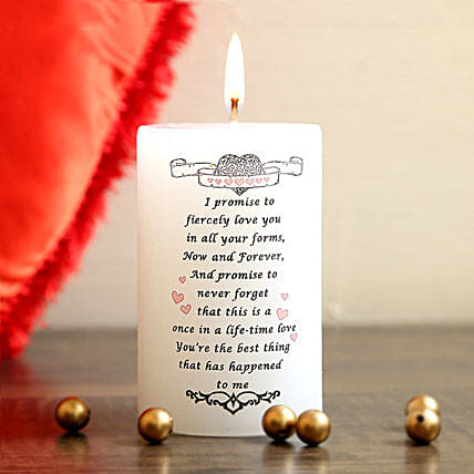 My Promise Candle:Romantic Gifts for Anniversary