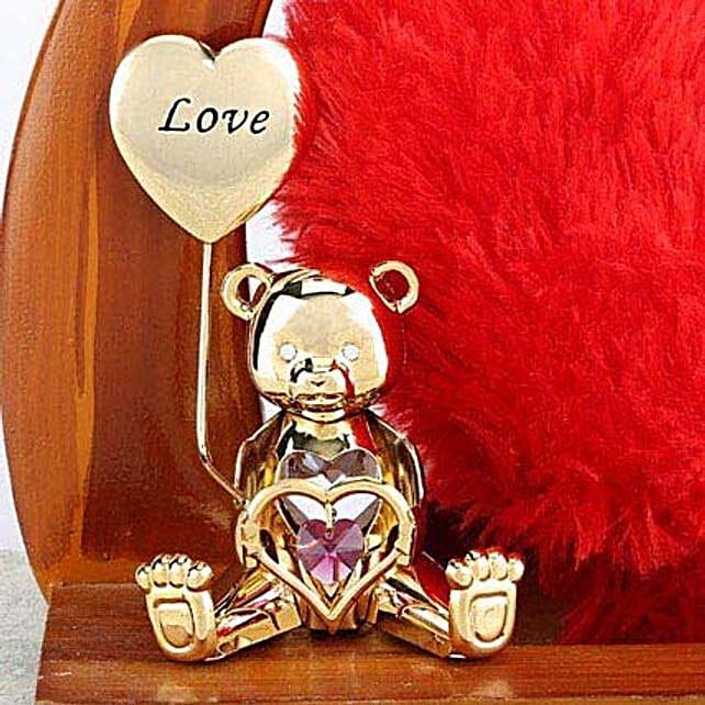 Swarovski love greeting bear