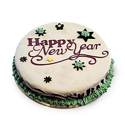 New Year Fondant Cake 3kg Eggless