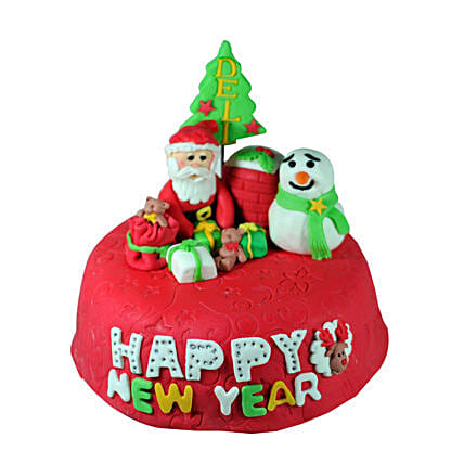 New Year With Santa 3kg Eggless