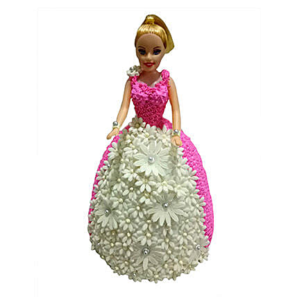Nice Lovely Baby Doll Cake 2 Kg Eggless