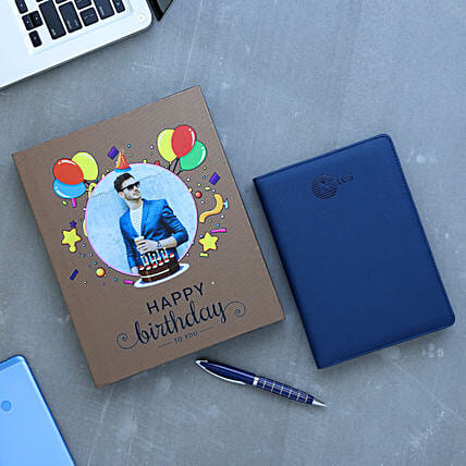 Note Book And Metal Pen Personalised Gift Box