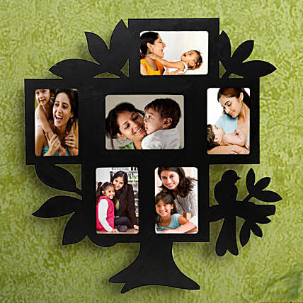 Nurturing Love Personalized Frame-1 personalized tree shaped 6 in 1 photo frame,sizes of all frame:1(35x55),2	(55x35),3 (45x65),4(55x35),5(55x35),6(55x35):Wedding Personalised Photo Frames
