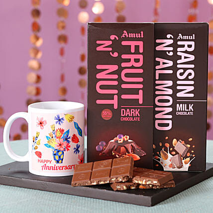 Online Nutty Amul Chocolates For Anniversary
