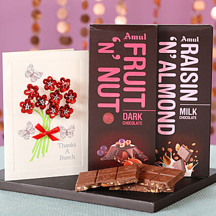 Online Nutty Amul Chocolates and Greetings