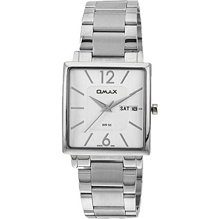 silver white dial watch for him:Accessories for Him