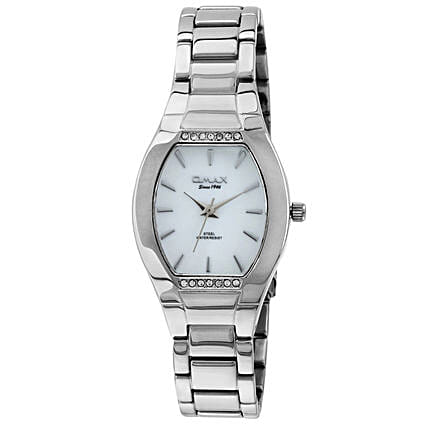 white dial analog watch for her
