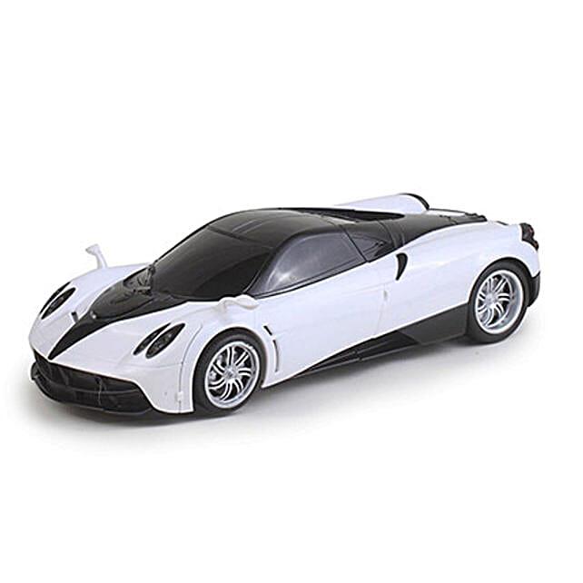 One Button Transforming Car White