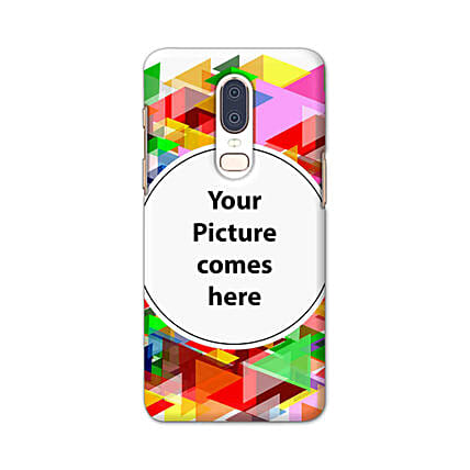 One Plus 6 Multicolor Personalised Phone Cover