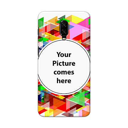One Plus 6T Multicolor Personalised Phone Cover
