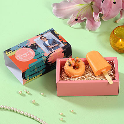 Orange Addiction Soaps Personalised Box:Personalised Gifts For Birthday
