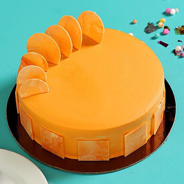 Online Orange Sponge Cake:Fathers Day Egg-less Cake