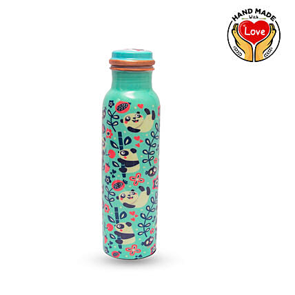 Panda Copper Meenakari Bottle Online