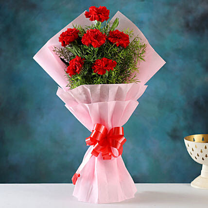 Online Red Carnations Bouquet