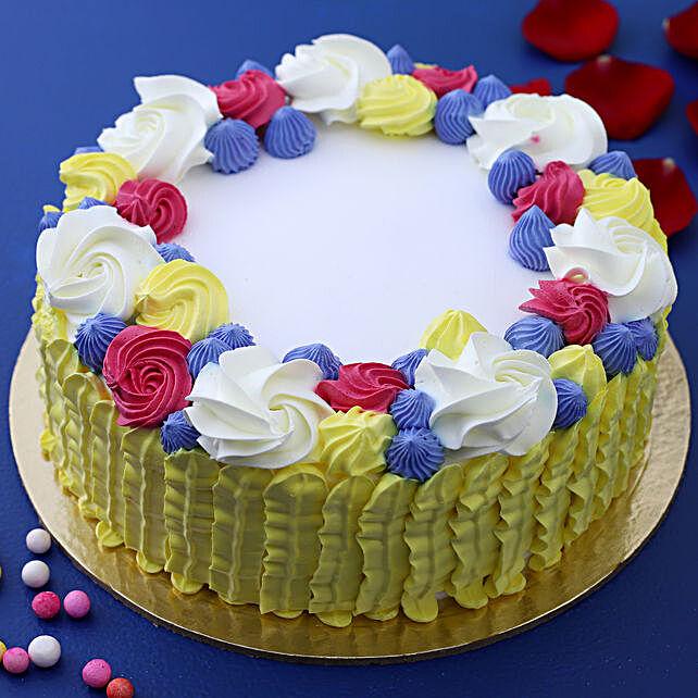Pastel Love Vanilla Cream Cake:Cakes for Promise Day
