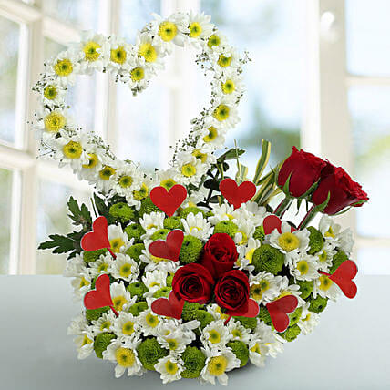 Heart Shape Bouquet Arrangement