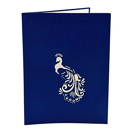 online 3d peacock greeting card