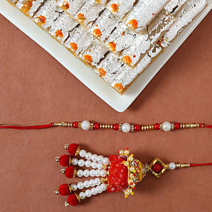 Online Rakhi Sets With Kaju Rolls