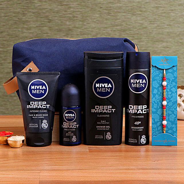 Pearl Rakhi & Nivea Men Deep Impact Kit