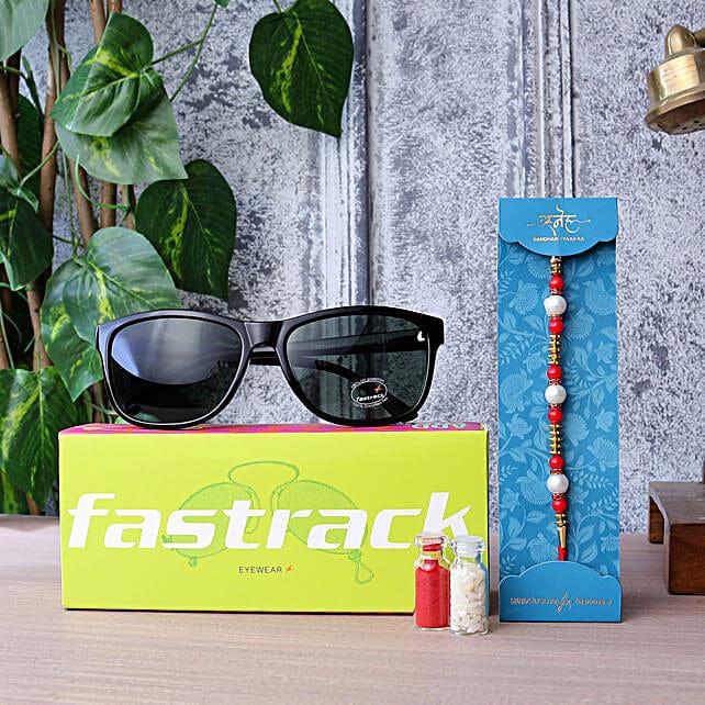 Pearl Rakhi N Fastrack Mens Sunglasses:Sunglasses