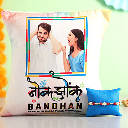 Online Cushion With Rakhi