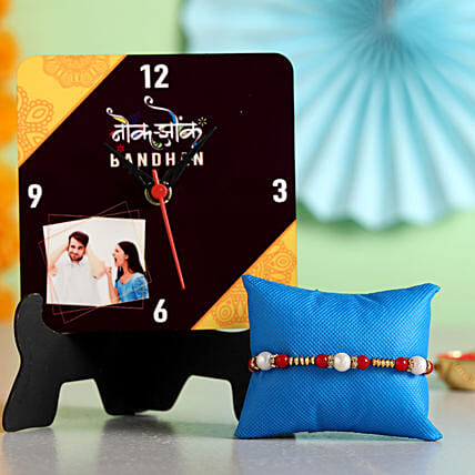 Online Table Clock With Rakhi
