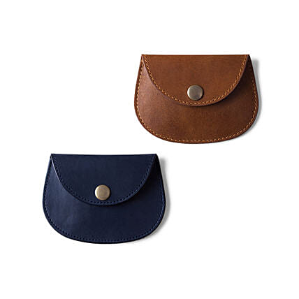Pellet Cable N Coin Wallet Blue & Brown - Set of 2
