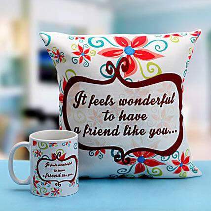 Combo of cushion and mug