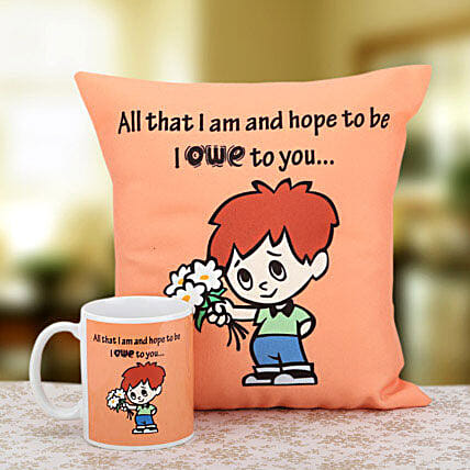 Cushion with mug