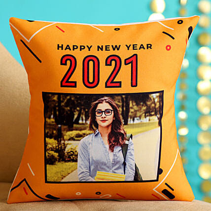 Online Personalised New Year Cushion For Her