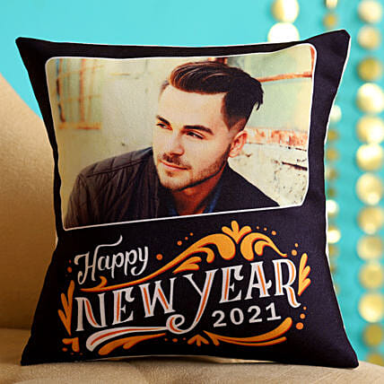 Online Personalised New Year Cushion For Him