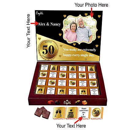 Personalised Anniversary Chocolate Online Order