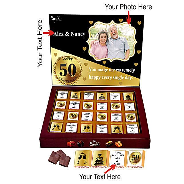 Personalised Anniversary Chocolate Online Order