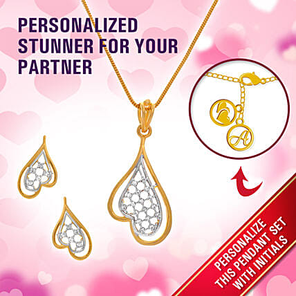 pendant set for valentine day