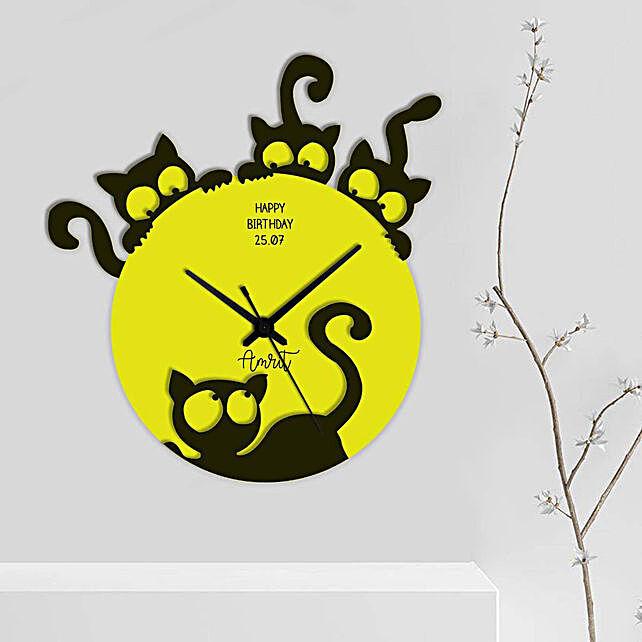 Cute Cat Wall Clock Online