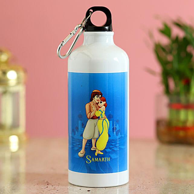 aladddin cartoon printed bottle