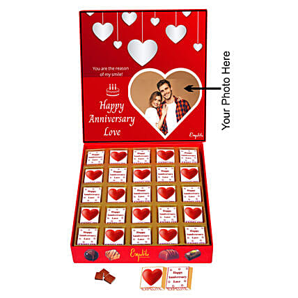 Online Personalised Anniversary Chocolate:Personalised Chocolates for Anniversary