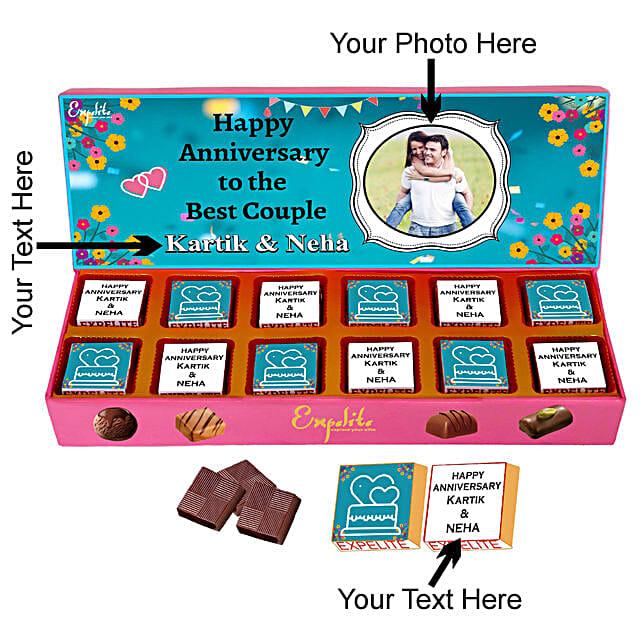Send Online Personalised Anniversary Chocolate