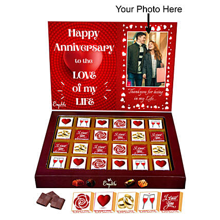 Personalised Anniversary Chocolate Order Online