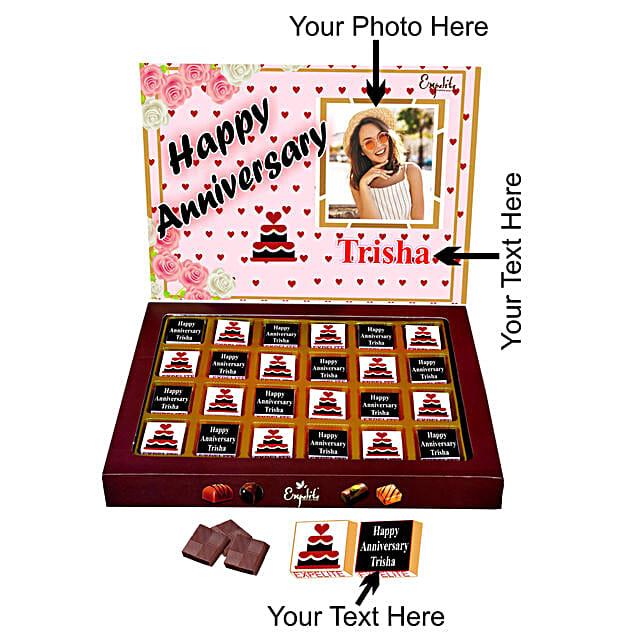 Send Personalised Anniversary Chocolates