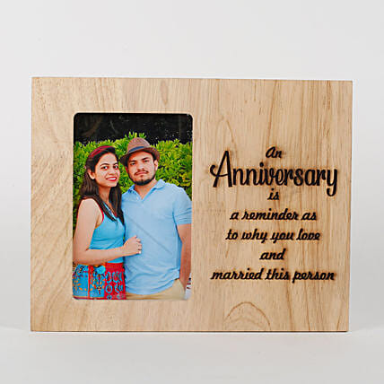 Engraved frame:Anniversary Photo Frames