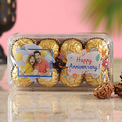 Personalised Anniversary Wishes Ferrero Rocher Box