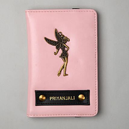 Personalised Baby Pink Passport Cover:Personalised Accessories