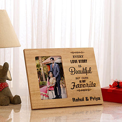 Romantic Custom Photo Frame Online:Personalised Engraved