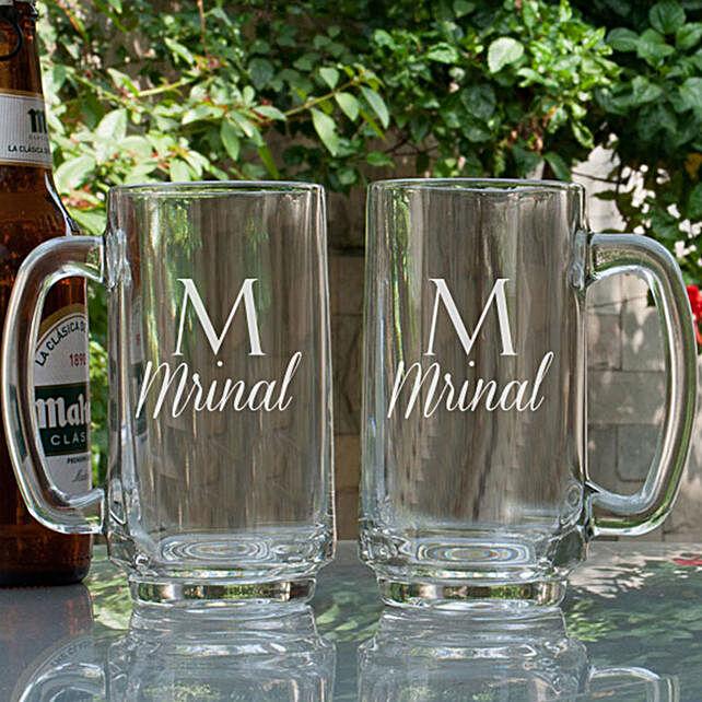 Name Printed Beer Mugs Combo Online