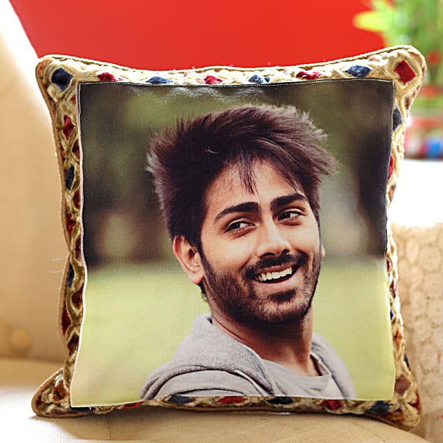 Silk Photo Cushion for Him