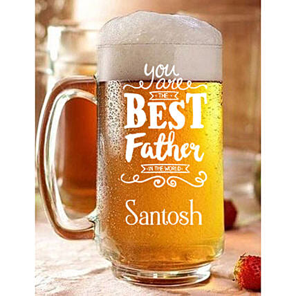 Personalised Best Father Beer Mug Online