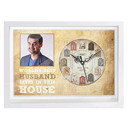 Photo Frame with Clock Online