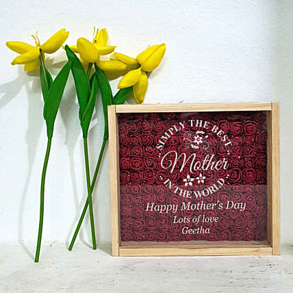 wooden engrave showpiece online:Mothers Day Personalised Engraved