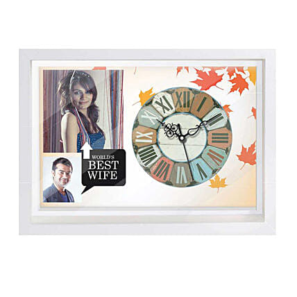 Wall Clock with Photo For Wife